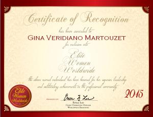 Veridiano Martouzet, Gina 1538330