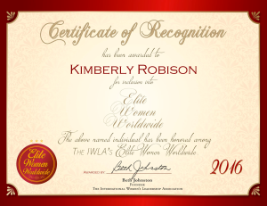 Robison, Kimberly 2058771