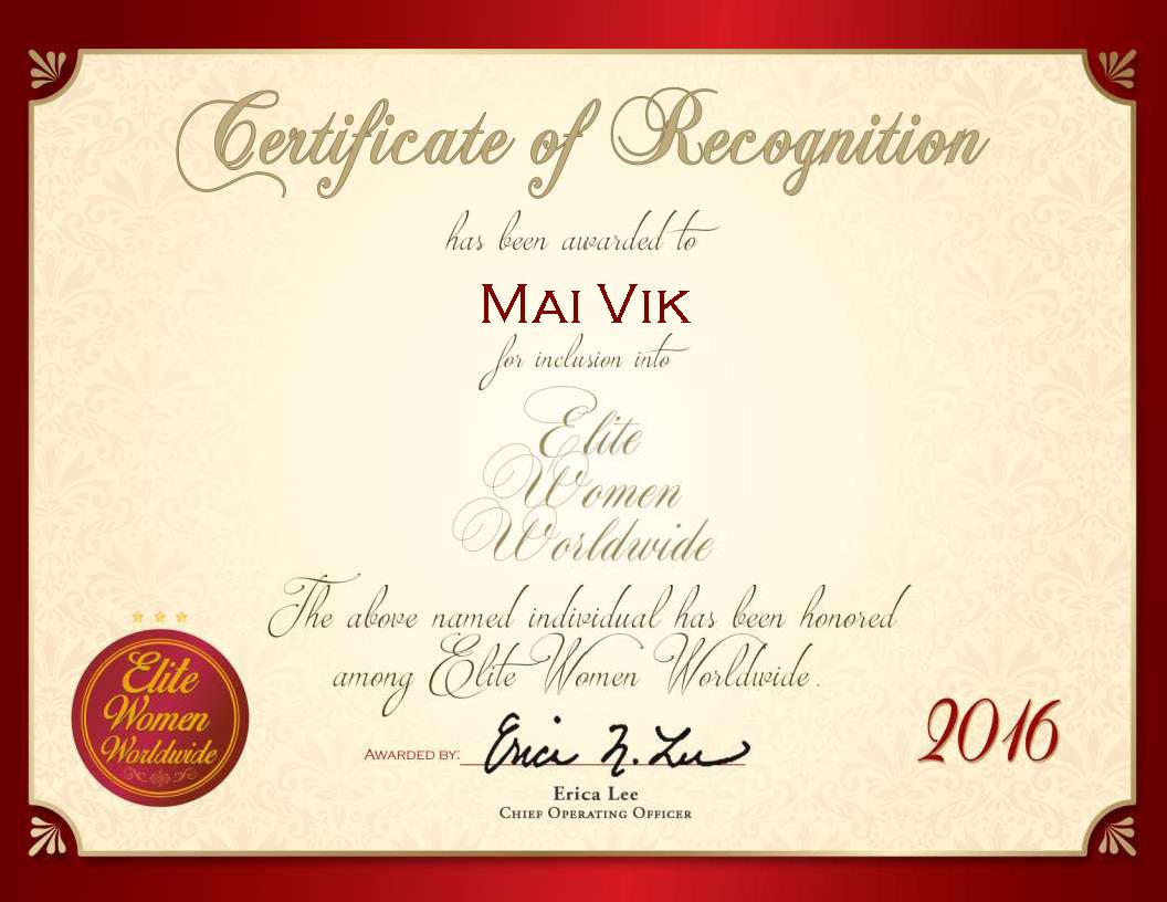 Mai Vik Elite Women Worldwide